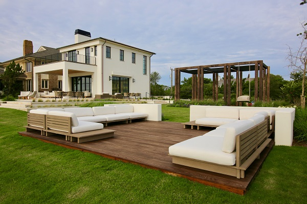 Island floating deck